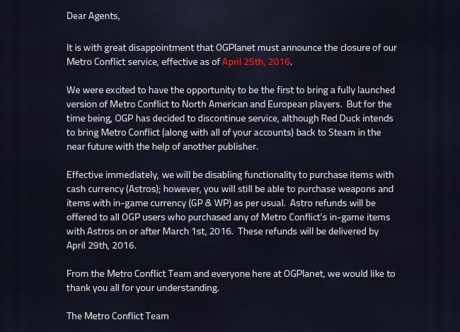 Metro-Conflict-closure-announcement